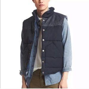 GAP Pendleton Blue Puffer Quilted Plaid Vest